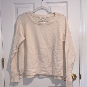 Feel the Piece Cream Sweater with Thumb Holes